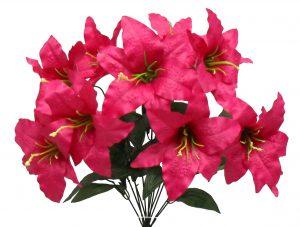 """Fuchsia 22"""" tall tiger lily x 12"""