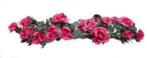 "Fuchsia 28"" crinkle silk rose swag"