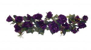 """Purple 28"""" crinkle silk rose swag"""