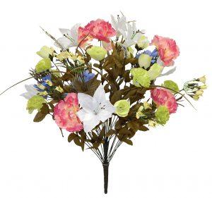 "Beauty/Blue/Seafoam/Cream 25"" tall mixed flower bouquet with 40 stems"