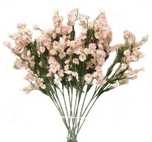 "Cream/Pink 18"" tall Baby breath"