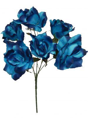 "Blue 17"" open rose Bush x 6"