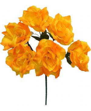 """Yellow 17"""" open rose Bush x 6"""
