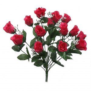 "Fuchsia 19"" rose Bud Bush x 14"
