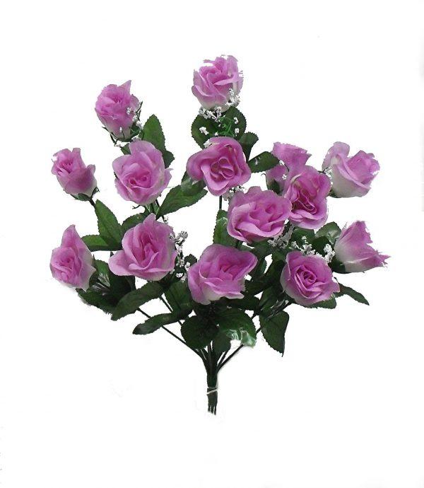 """Lavender 19"""" rose Bud Bush x 14"""