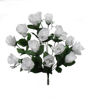 "White 19"" rose Bud Bush x 14"