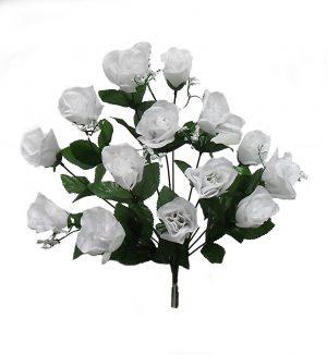"""White 19"""" rose Bud Bush x 14"""