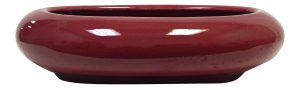 "BUrgundy H2 1/2"" x W6"" x L9"" Oval ceramic"
