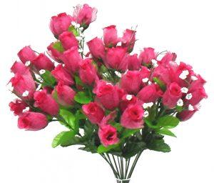 Fuchsia Gauze rose Bud Bush x 14