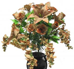 "Brown 29"" Mixed Rose/Wisteria Bush x 36"
