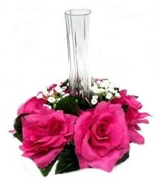 Fuchsia Rose Candle Ring