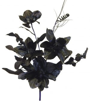 "Black 20"" tall silk magnolia bouquet"