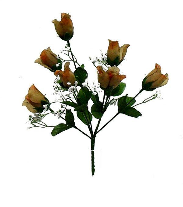 "Brown 14"" tall Rose Bud Bush x 7"