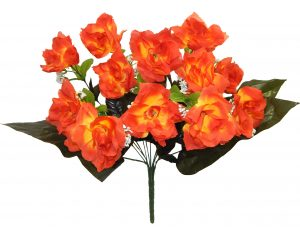 Orange Open Rose x 12