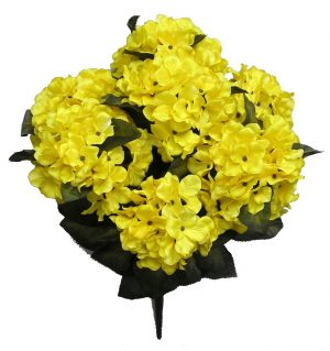 "Yellow 20"" tall satin hydrangea Bush x 7"