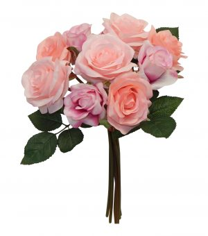"""Two Tone/Pink 15"""" Rose Bouquet"""