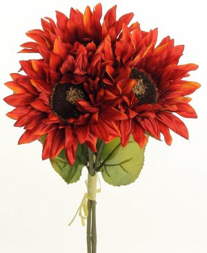 Sunflower Bundle x3, 16in, Flame