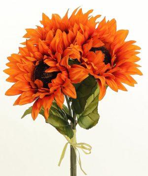 Sunflower Bundle x3, 16in, Rust