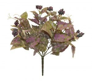 14in  frosted purple cissus bush x 9 with mini berries