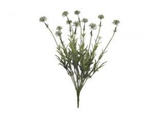 Set of 2 White Allium Bush