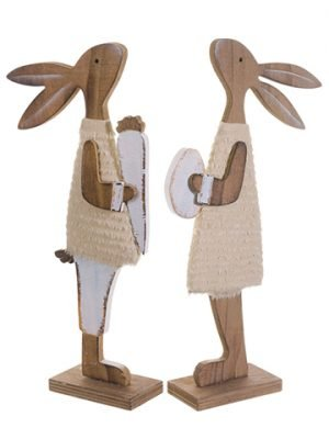 "12.2"" Mr. & Mrs. Bunny (2 ea./set) Brown"
