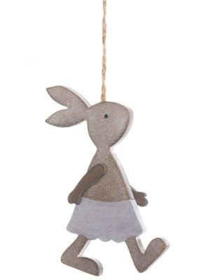 "4.75"" Hanging Bunny Brown"