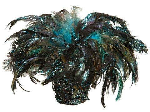 "10"" Feather Birdnest w/Clipin BasketPeacock"