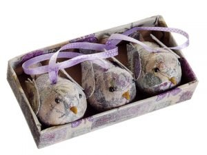 "7"" Decoupage Birds (3 ea/box) Lavender"