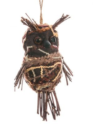 "5.5"" Owl Ornament Brown"