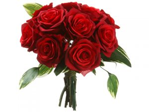 "11"" Rose Bouquet Red"