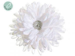 "5.5"" Rhinestone Corsage White Silver"