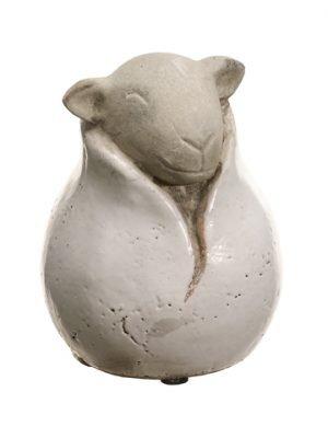 """6.6""""H x 5.1""""D Stoneware Lamb Cream"""