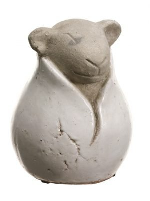 """9""""H x 7""""D Stoneware Lamb Cream"""
