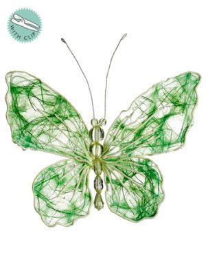 """5"""" Butterfly w/Clip Green"""