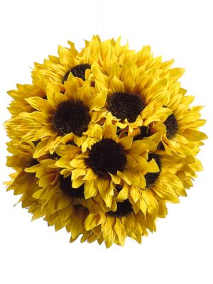 "7"" Sunflower Ball with Hanger Yellow"