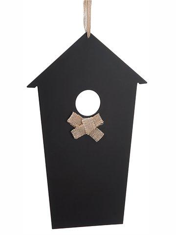 """18"""" Hanging Chalkboard BirdHouseBlack"""