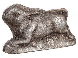 """4.5"""" Bunny Antique Silver"""