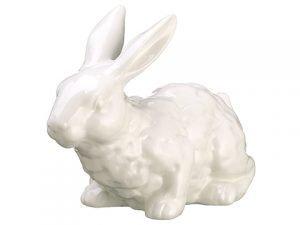 """6.75"""" Ceramic Bunny White"""