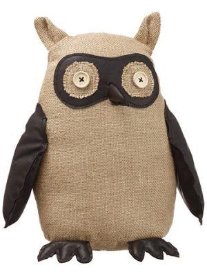"12.75"" Owl Beige Black"
