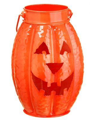 """10"""" Metal Jack-O-Lantern Orange"""