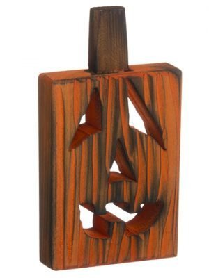 "8.25"" Jack-O-Lantern WoodTable TopOrange"