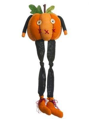 "14.5""H X 5.5""L SittingPumpkin With LegsOrange"