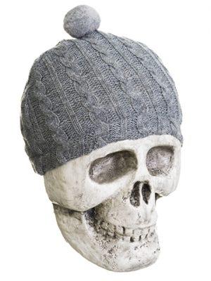 """6.5"""" Skull Beige Gray"""
