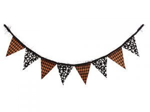"72"" Skull Garland Black Orange"