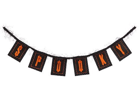 "46"" Spooky Garland Black Orange"