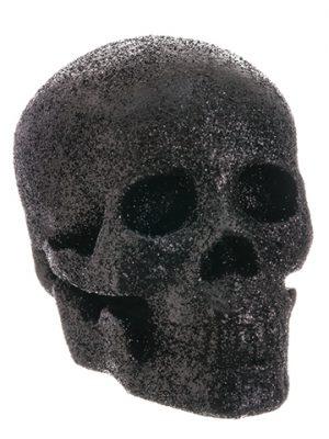 """5.25"""" Glittered Skull Black"""