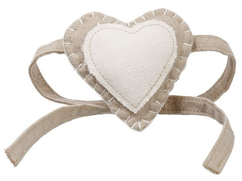 "3.5"" Heart Napkin Ring Tie Cream Beige"