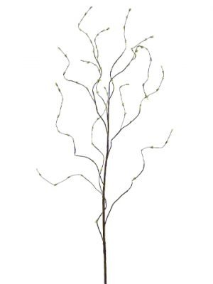 """50"""" Curly Willow Branch withMini LeavesBrown Green"""
