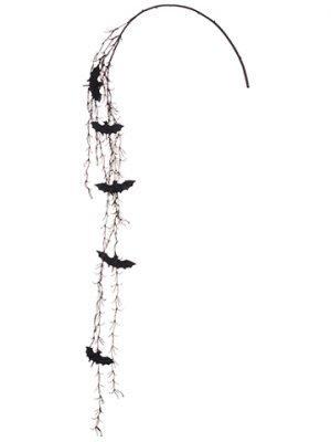 "59"" Glittered Bat Twig Vine Black Brown"