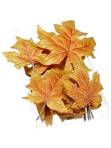 "1""H x 5""W x 9""L Assorted Maple Leaf (18 ea/Acelate box) Brown"